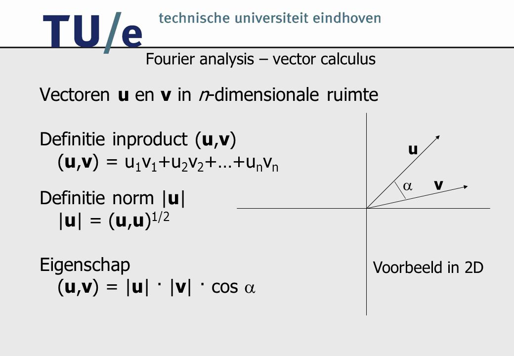 Fourier analysis – vector calculus