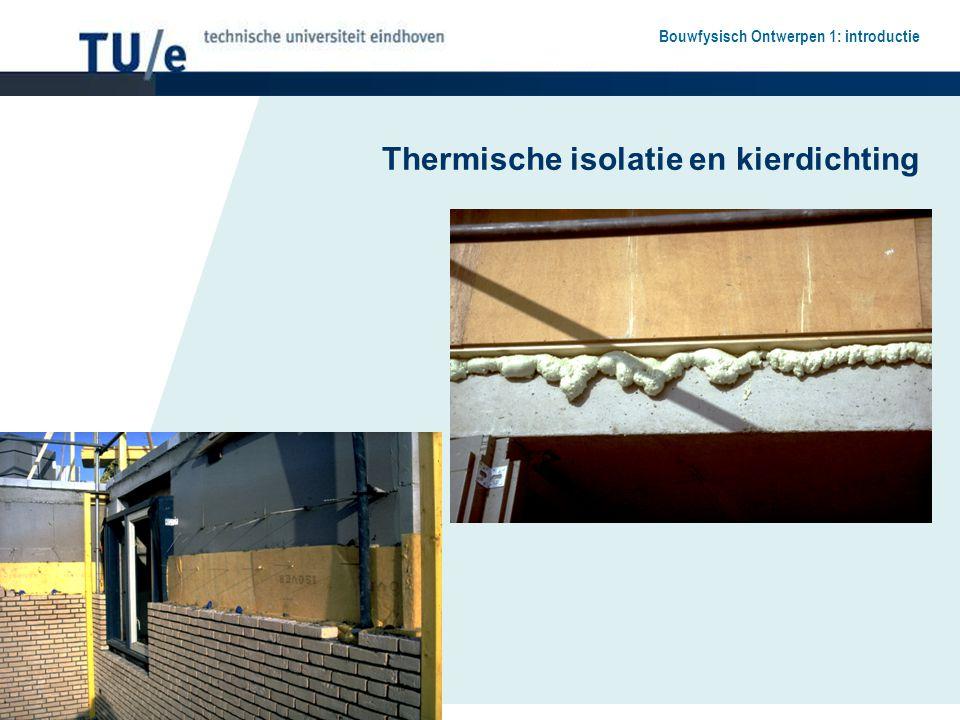 Thermische isolatie en kierdichting