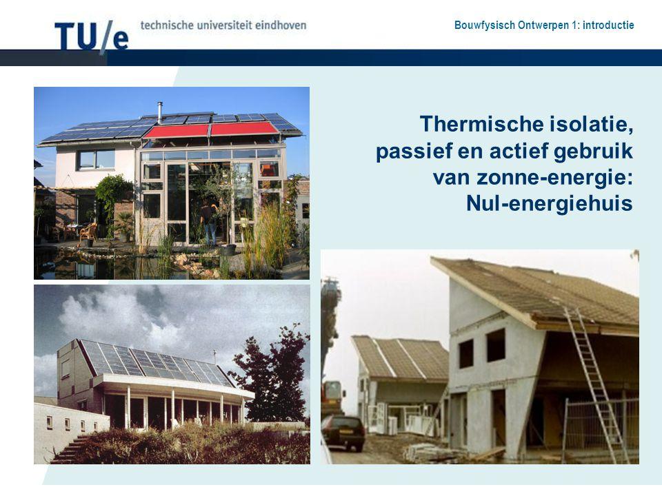 Thermische isolatie, passief en actief gebruik van zonne-energie: Nul-energiehuis