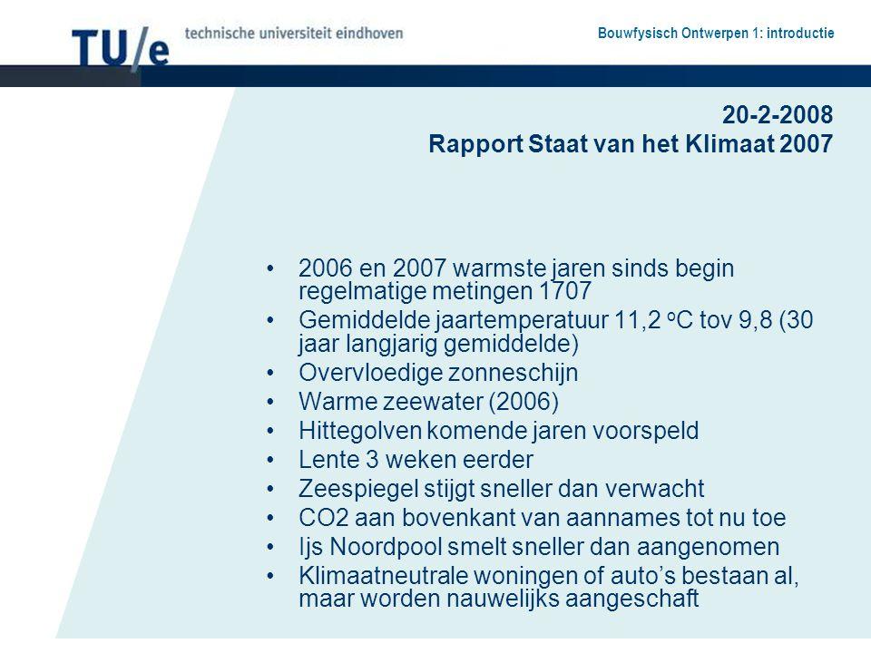 20-2-2008 Rapport Staat van het Klimaat 2007