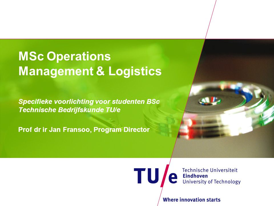 MSc Operations Management & Logistics