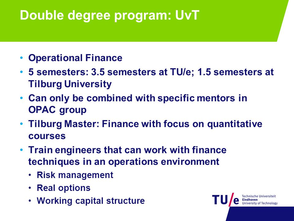 Double degree program: UvT