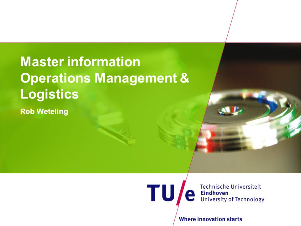 Master information Operations Management & Logistics