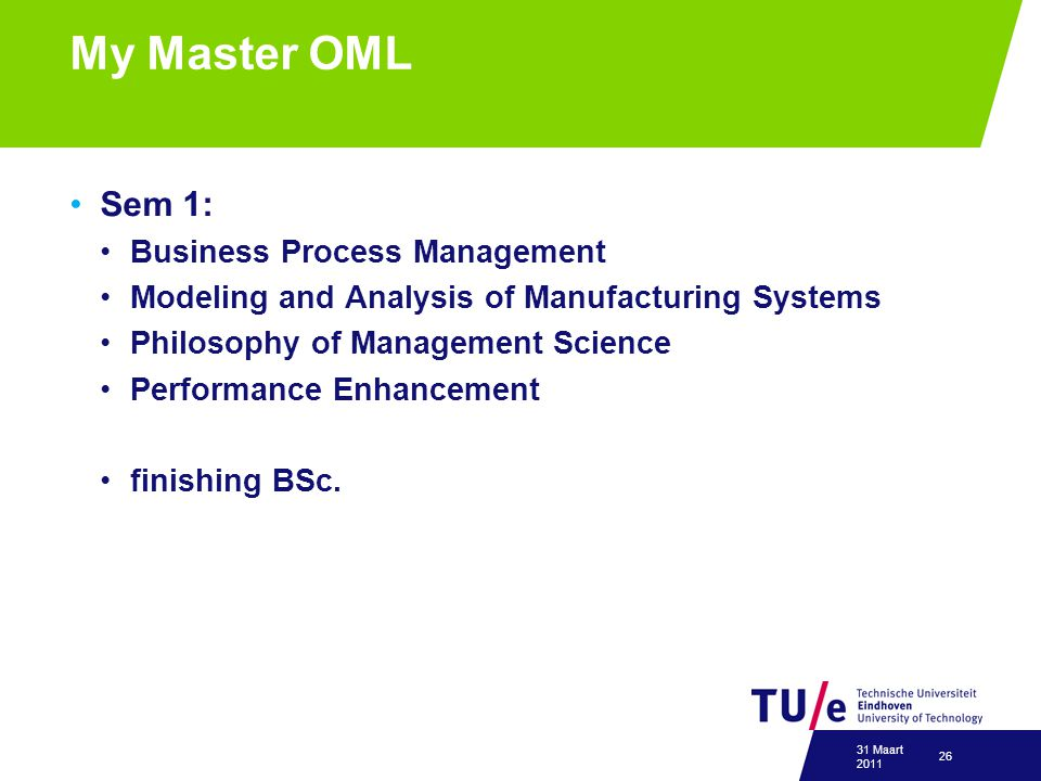 My Master OML Sem 1: Business Process Management
