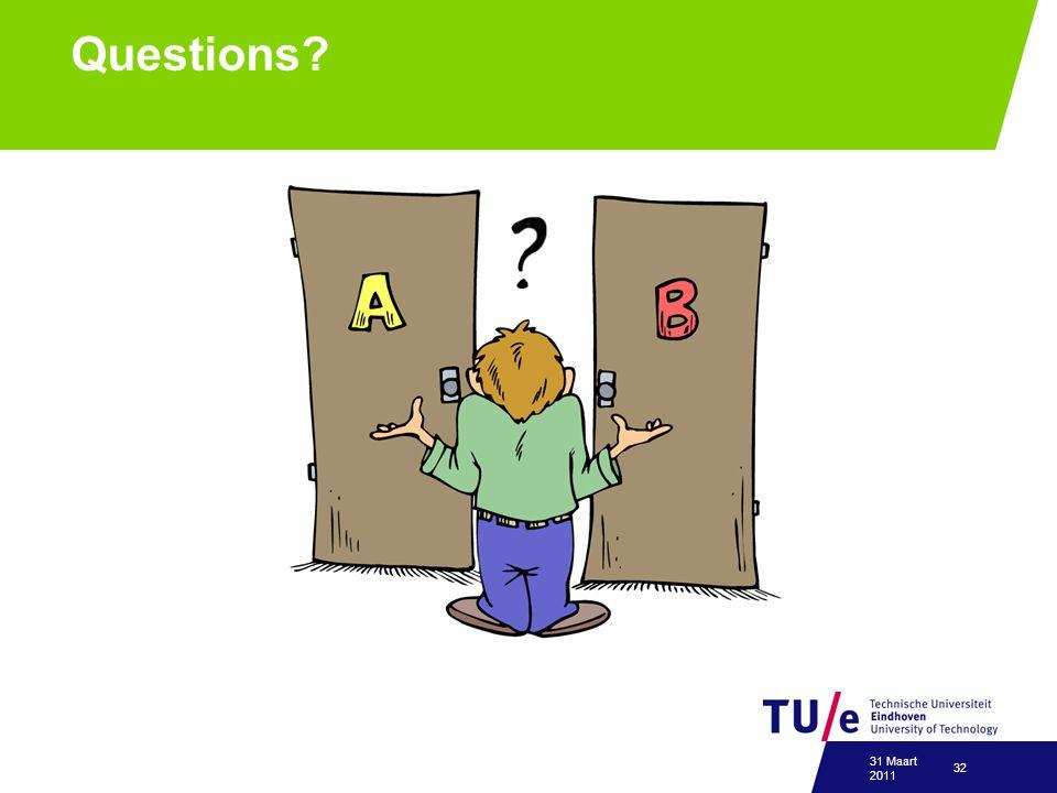 Questions 31 Maart 2011