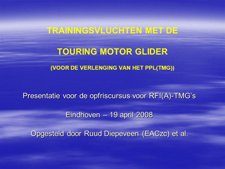 Trainingsvluchten met deTMG