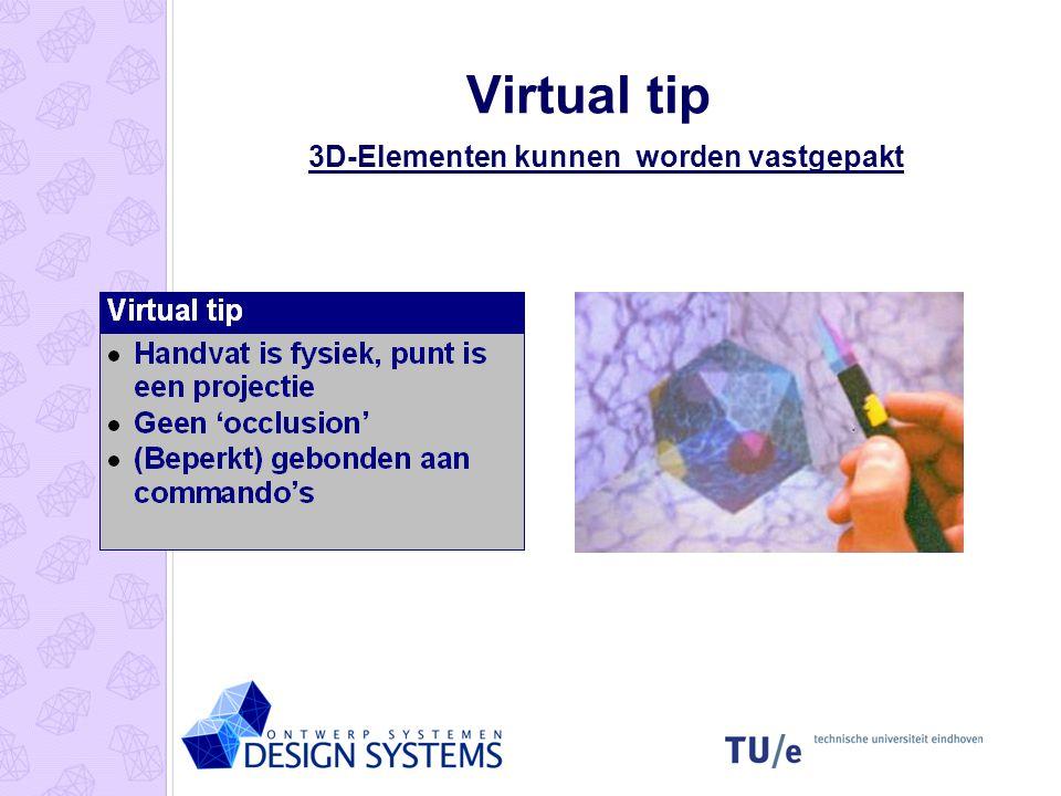 3D-Elementen kunnen worden vastgepakt