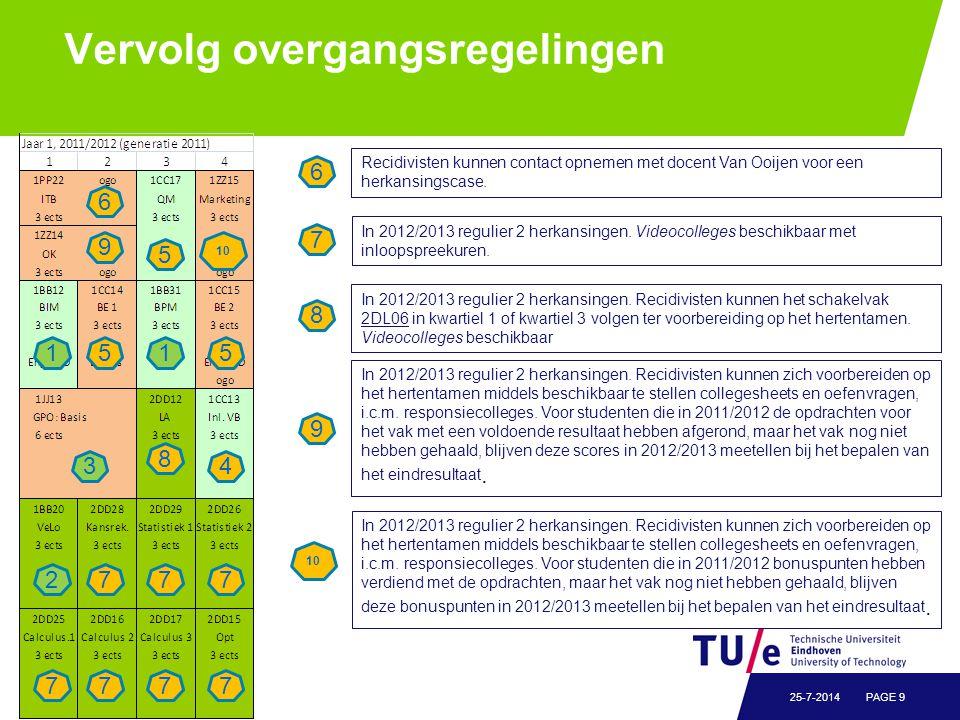 Concept Overgangsregelingen TBG, Nog te bespreken in OC!!!