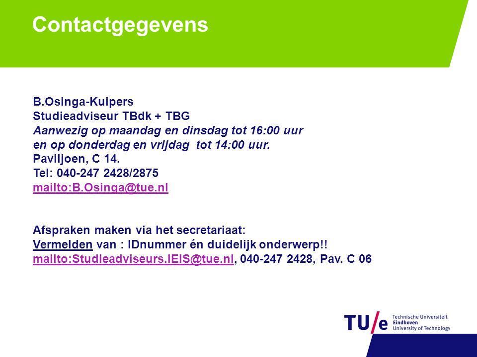 Vragen http://onderwijs.ieis.tue.nl Check link - goed