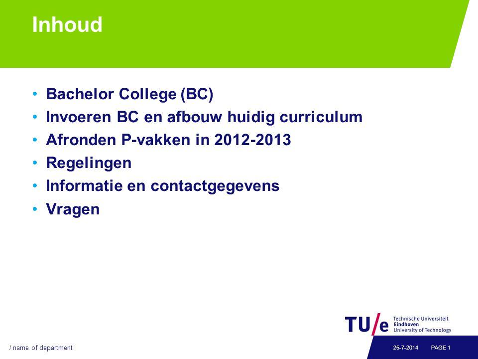 Wat zijn de doelen van het BSc College