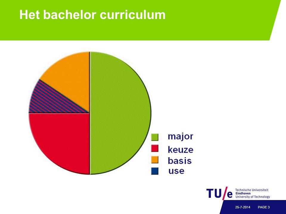 Het bachelor curriculum