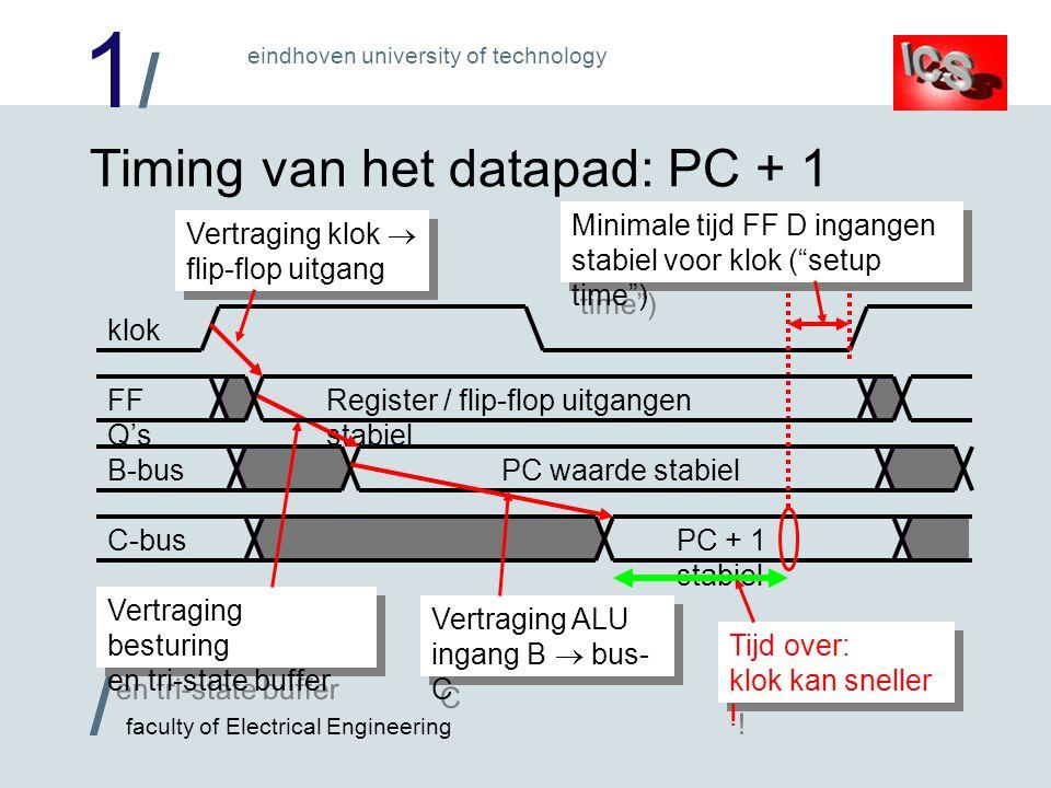 Timing van het datapad: PC + 1