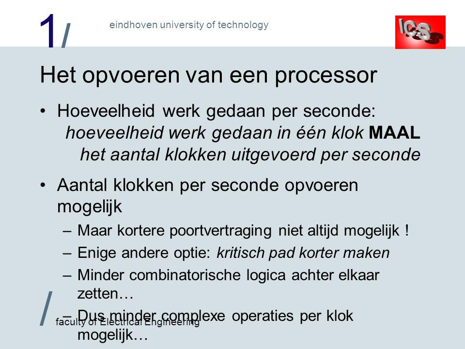 Het opvoeren van een processor