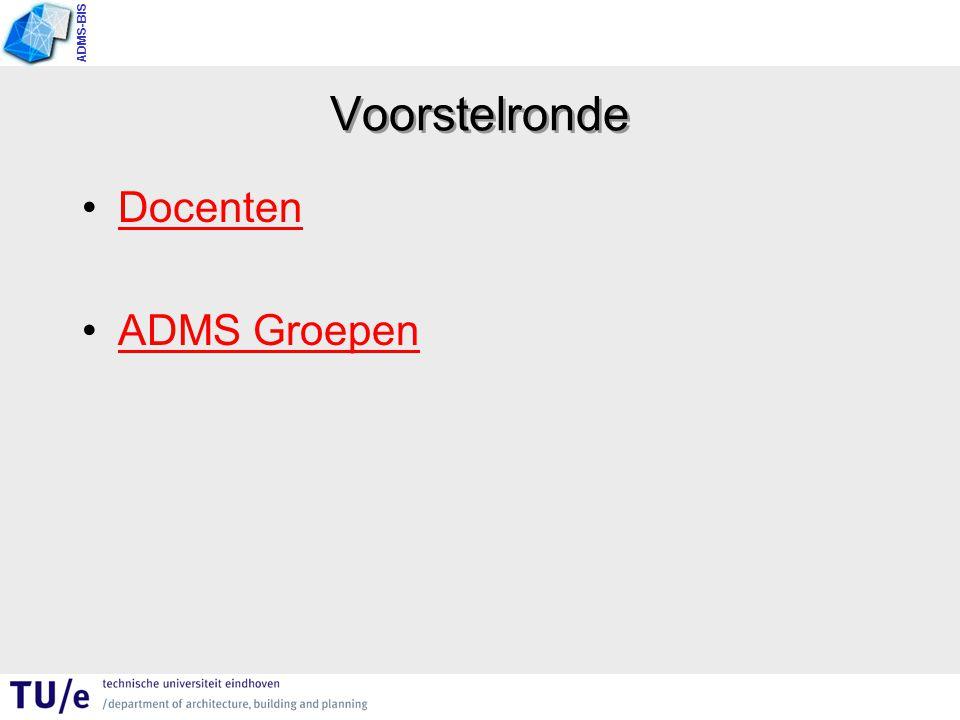 Voorstelronde Docenten ADMS Groepen