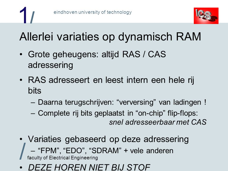 Allerlei variaties op dynamisch RAM