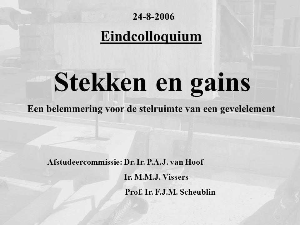 Stekken en gains Eindcolloquium 24-8-2006