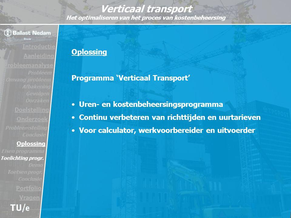 Programma 'Verticaal Transport'