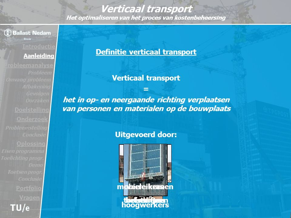 Definitie verticaal transport