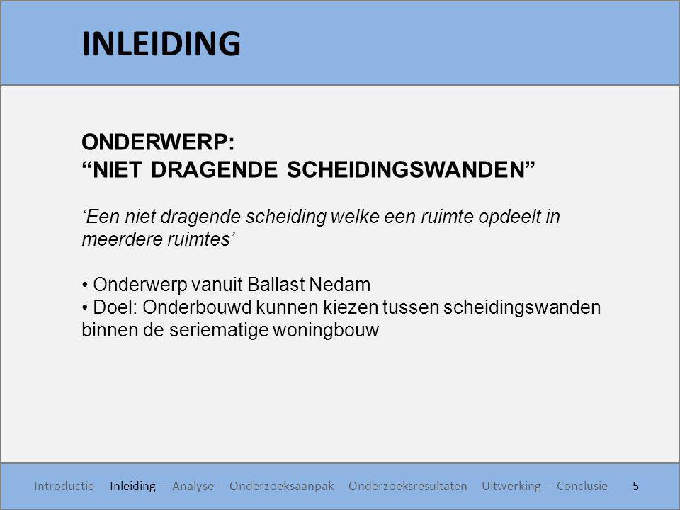 INLEIDING ONDERWERP: NIET DRAGENDE SCHEIDINGSWANDEN