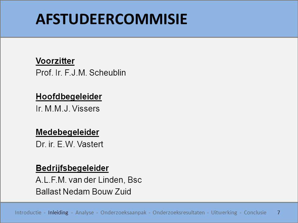 AFSTUDEERCOMMISIE Voorzitter Prof. Ir. F.J.M. Scheublin