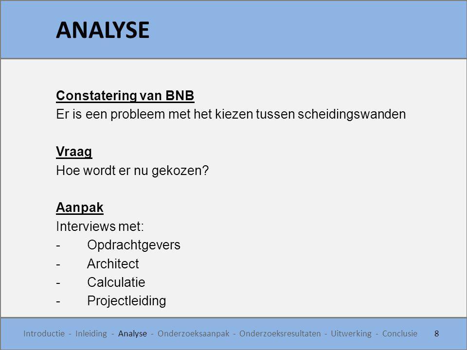 ANALYSE Constatering van BNB