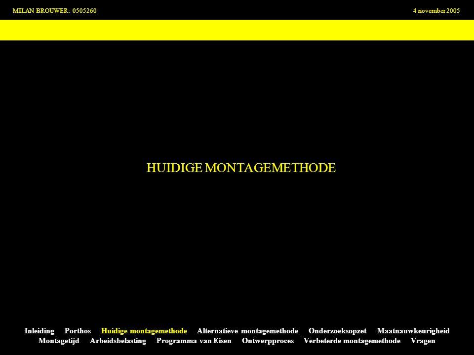 HUIDIGE MONTAGEMETHODE