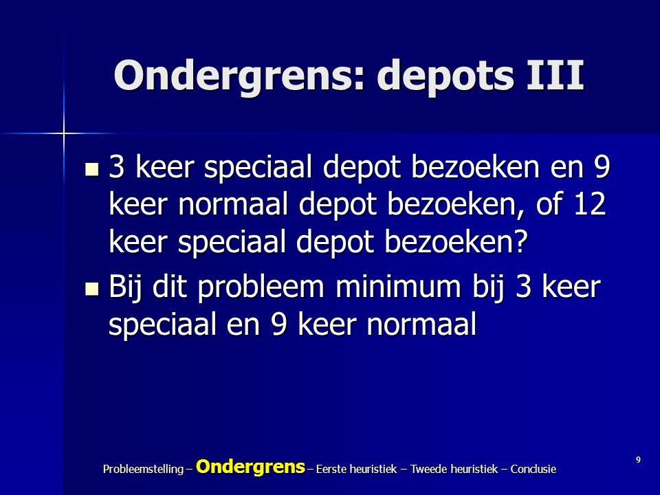 Ondergrens: depots III