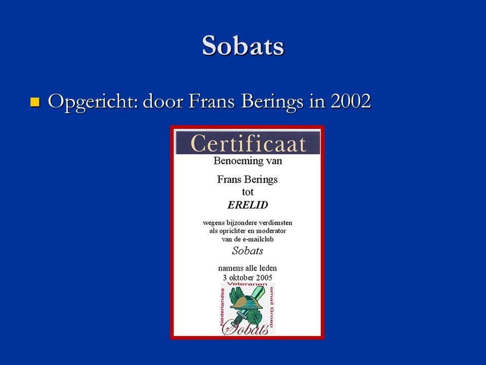 Sobats Opgericht: door Frans Berings in 2002