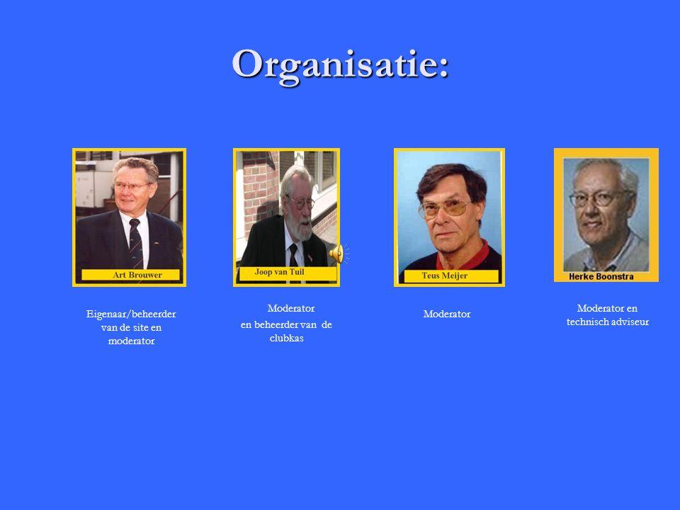 Organisatie: Moderator Moderator en technisch adviseur