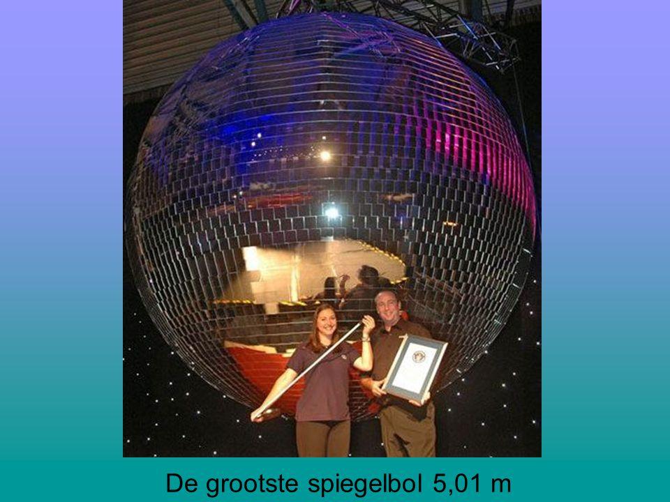 De grootste spiegelbol 5,01 m