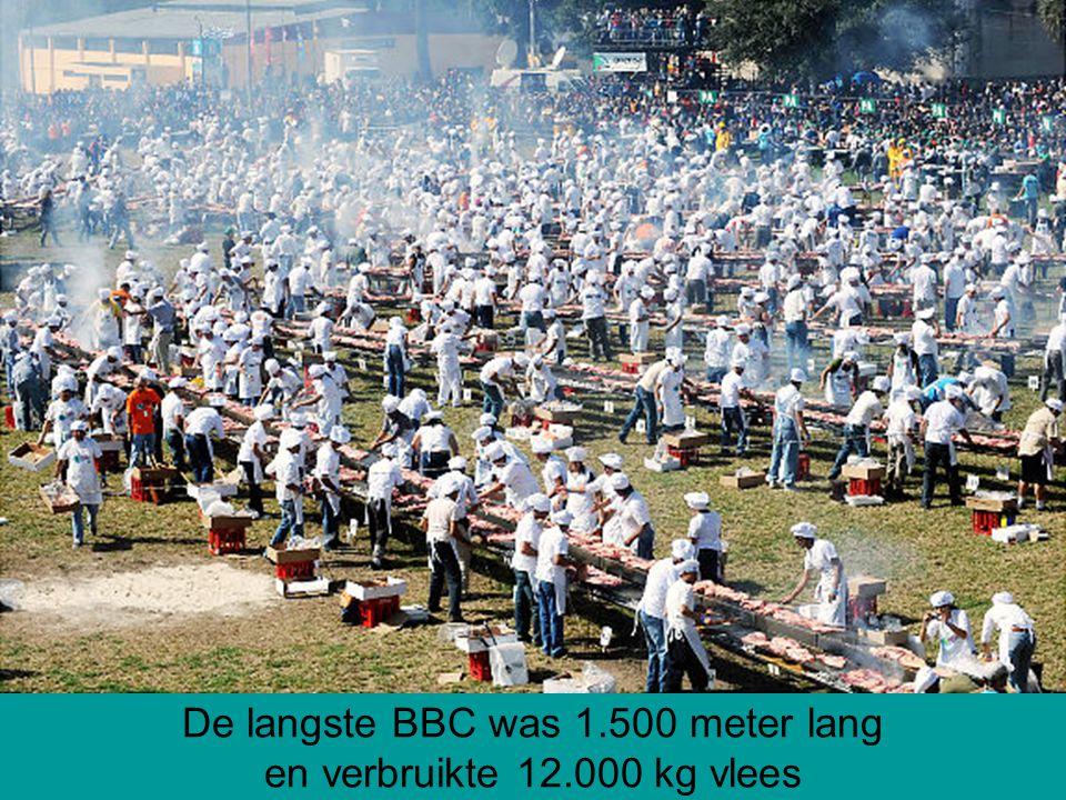 De langste BBC was 1.500 meter lang en verbruikte 12.000 kg vlees