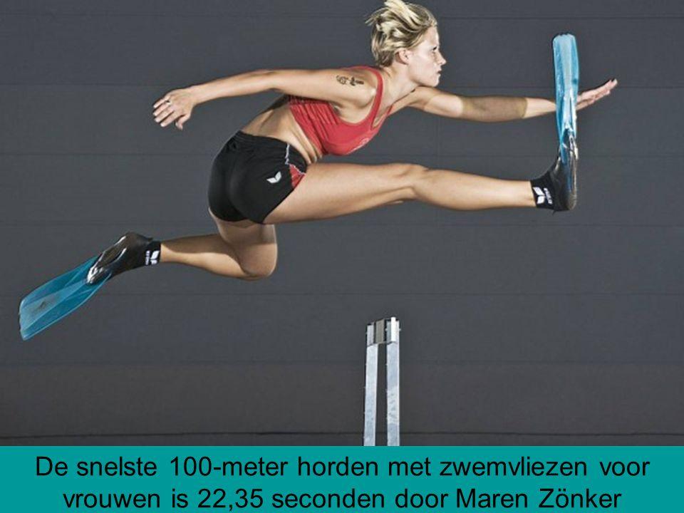 De snelste 100-meter horden met zwemvliezen voor vrouwen is 22,35 seconden door Maren Zönker