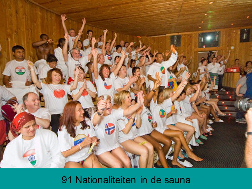 91 Nationaliteiten in de sauna