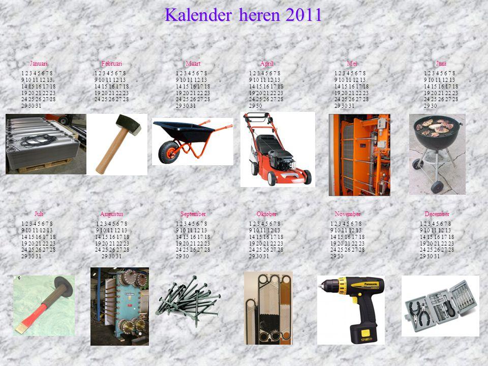 Kalender heren 2011 Januari Februari Maart April Mei Juni Juli