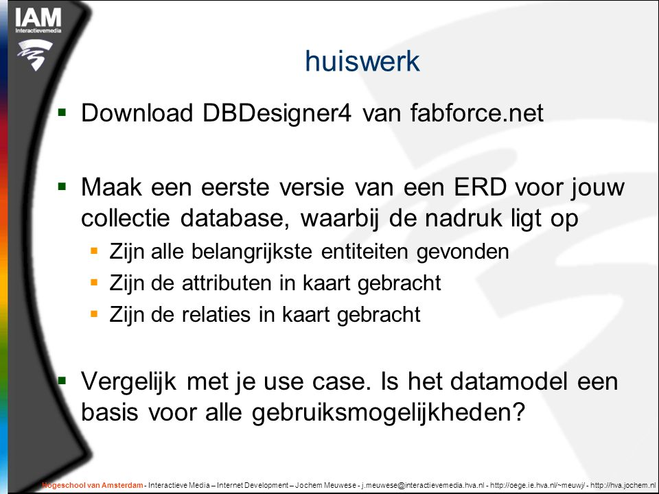 huiswerk Download DBDesigner4 van fabforce.net