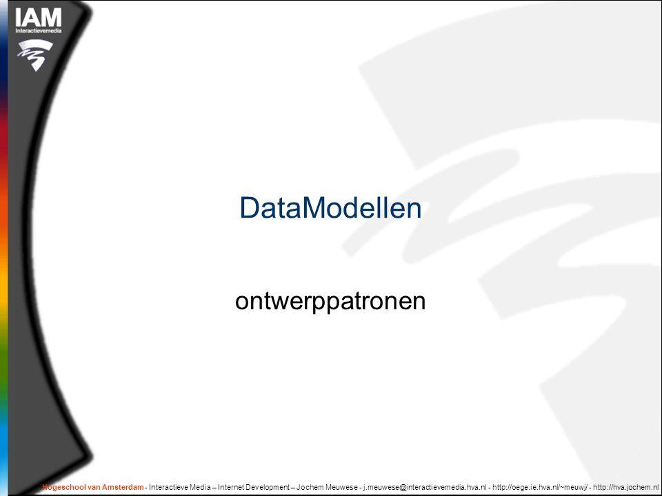 DataModellen ontwerppatronen