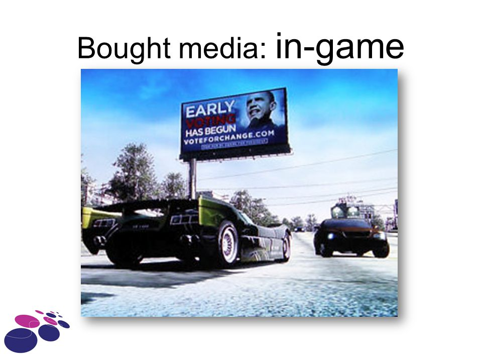 Bought media: in-game