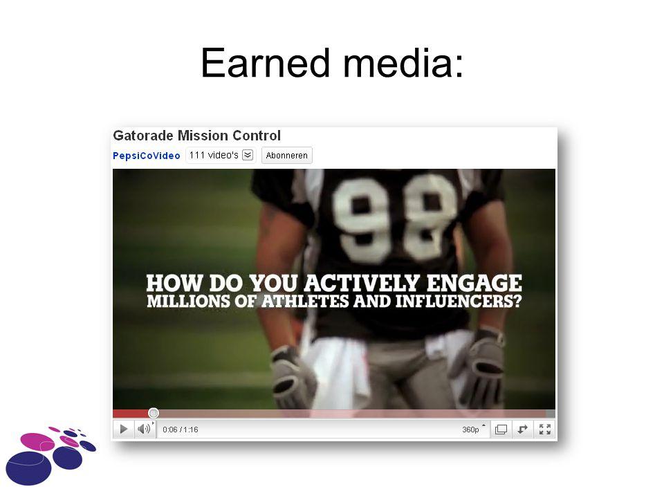 Earned media: