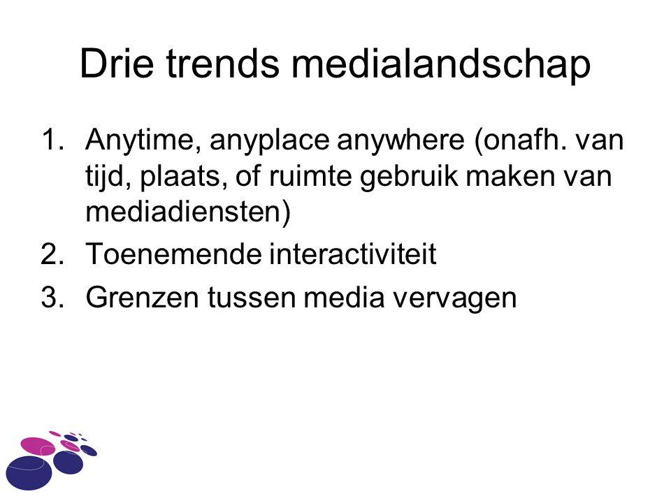 Drie trends medialandschap