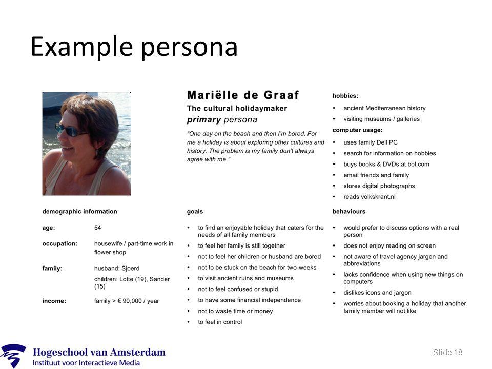 Example persona