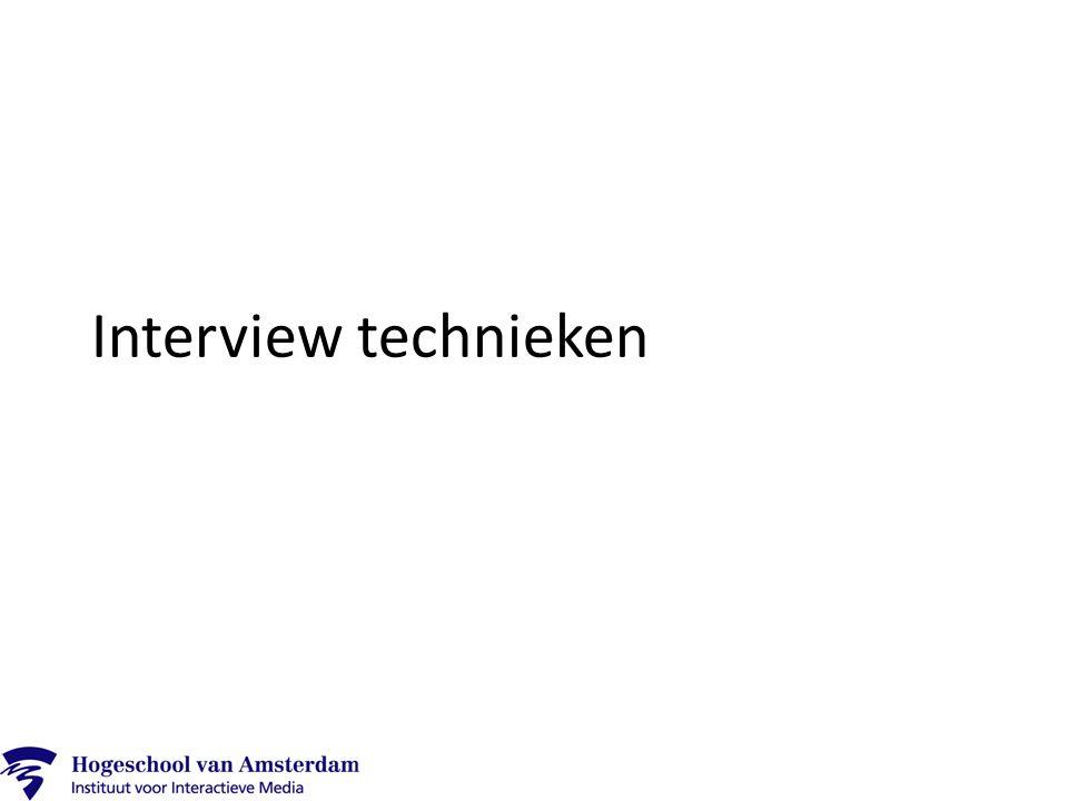 Interview technieken