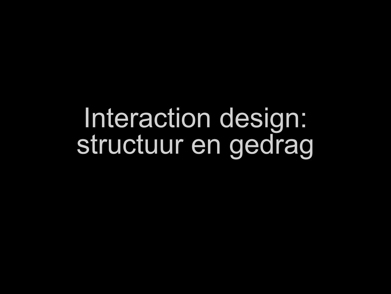Interaction design: structuur en gedrag