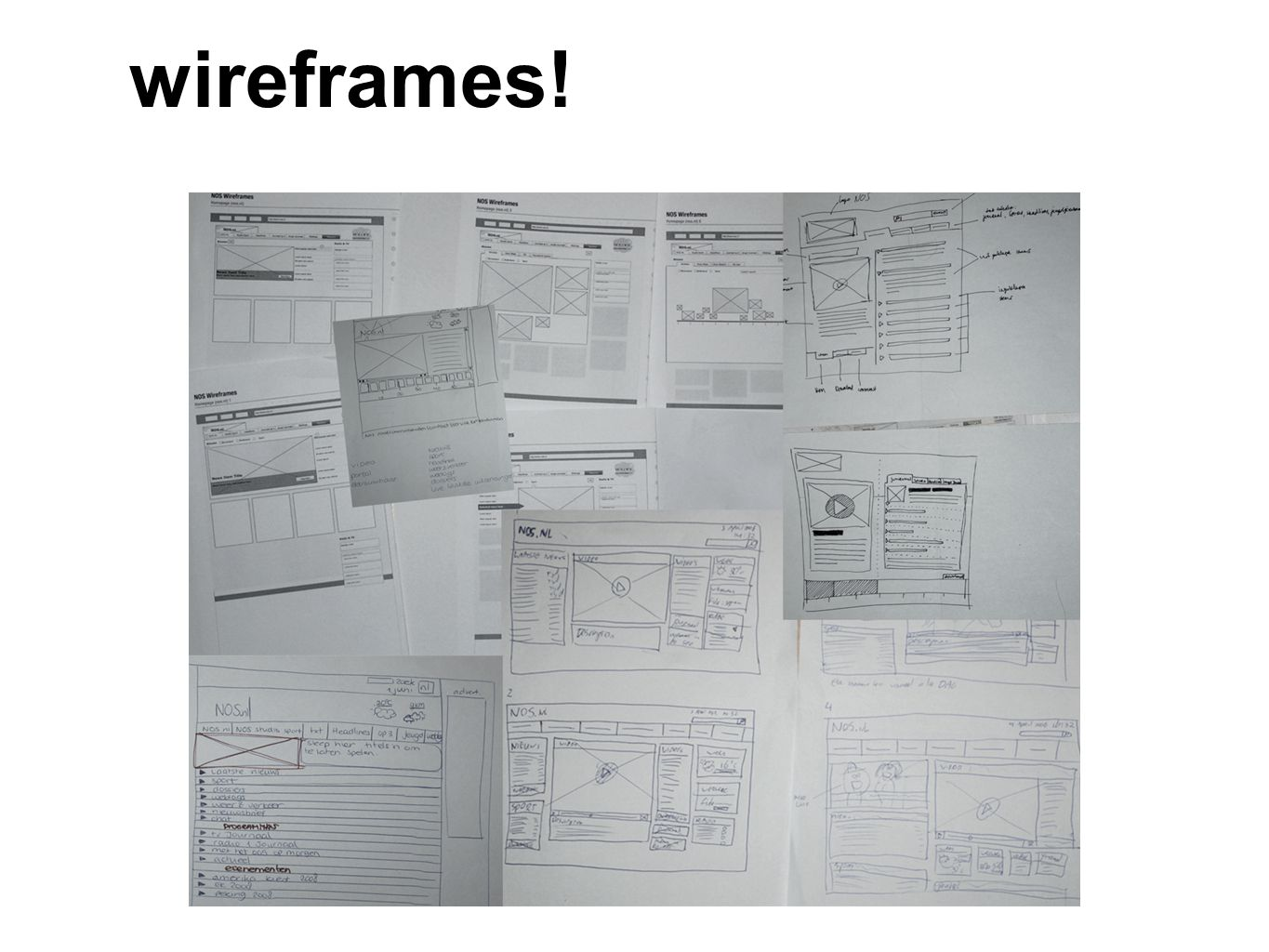 wireframes!