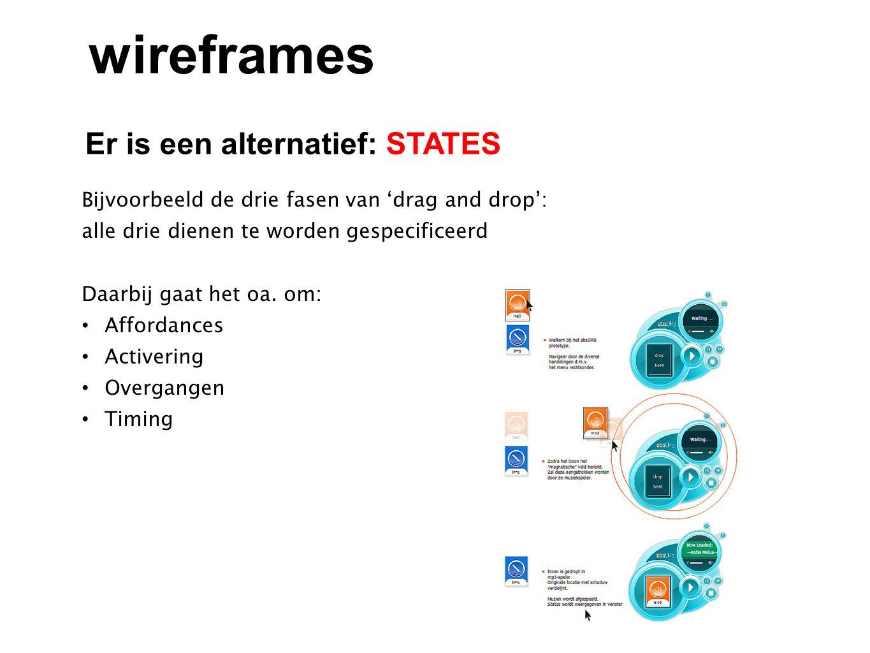 wireframes Er is een alternatief: STATES
