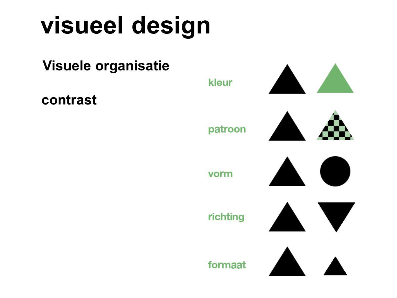 visueel design Visuele organisatie contrast