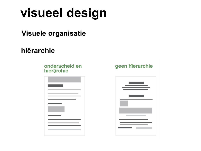 visueel design Visuele organisatie hiërarchie