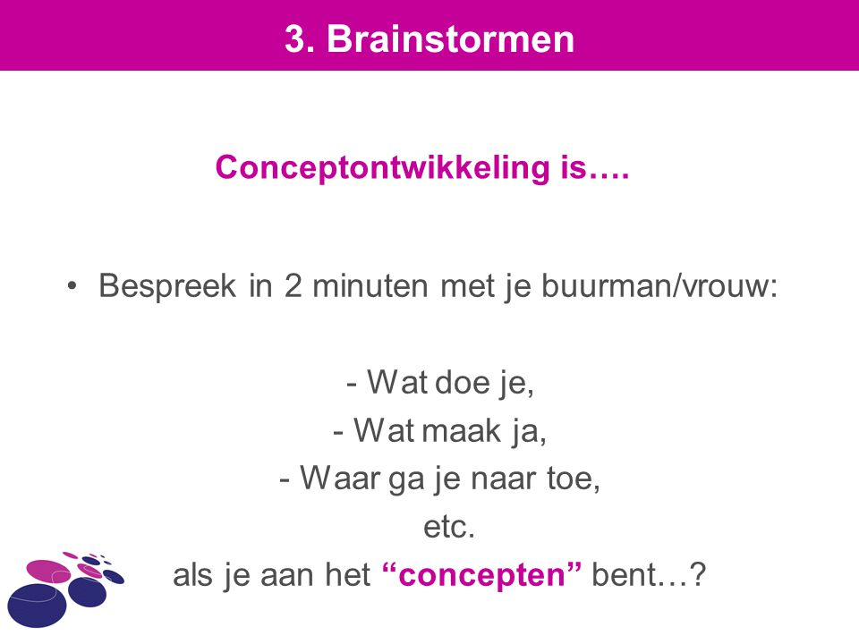 Conceptontwikkeling is….