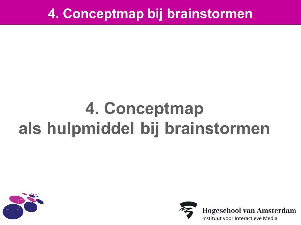 4. Conceptmap als hulpmiddel bij brainstormen