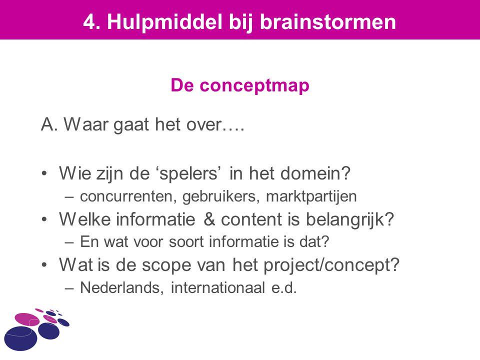 4. Hulpmiddel bij brainstormen