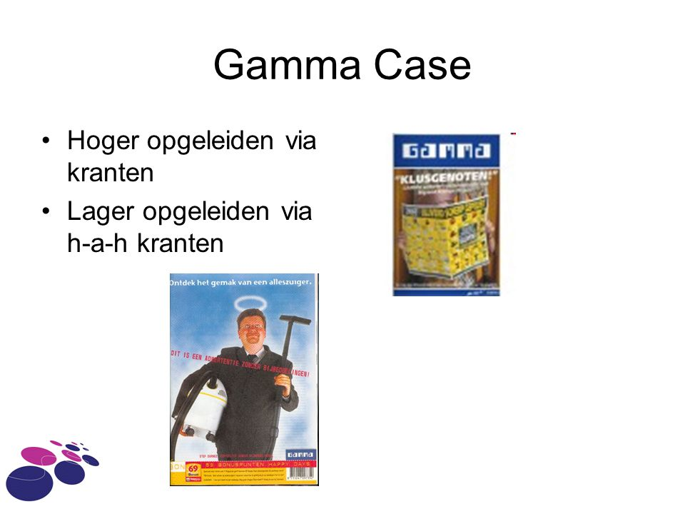 Gamma Case Hoger opgeleiden via kranten